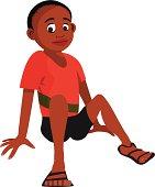 black boy sitting