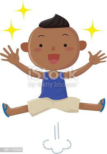 istock Black boys happily jumping, SDGs 1331720305