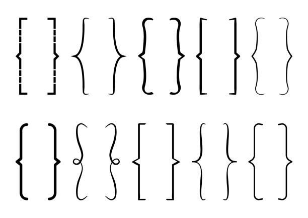 schwarze halterung satz. vektor-illustration - manschetten stock-grafiken, -clipart, -cartoons und -symbole