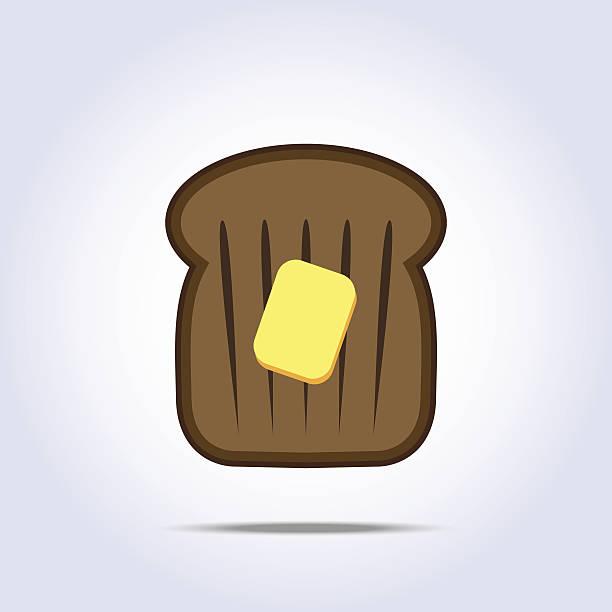 ilustrações de stock, clip art, desenhos animados e ícones de ícone preto torrada de pão com manteiga - burned cooking