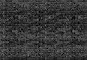 Horizontal black brick wall, vector eps10 illustration
