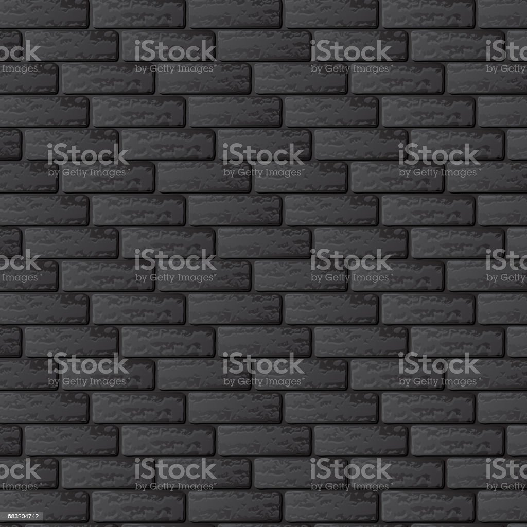 黒色レンガの壁 ロイヤリティフリー黒色レンガの壁 - ひびが入ったのベクターアート素材や画像を多数ご用意