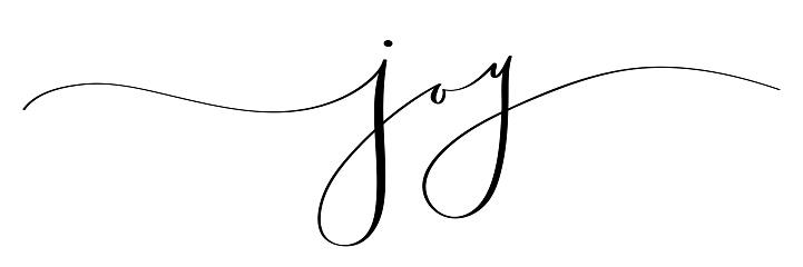 JOY black brush calligraphy banner