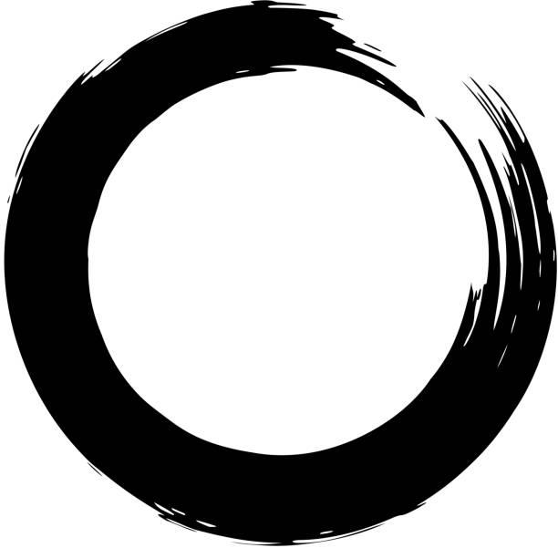 用圓圈形式的黑色畫筆筆劃。設計項目為海報, 卡片, 標誌, 橫幅。 - 不完整 幅插畫檔、美工圖案、卡通及圖標