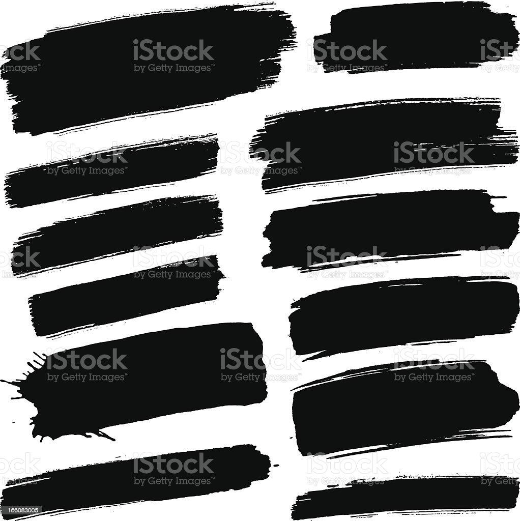 Black brush strokes royalty-free stock vector art