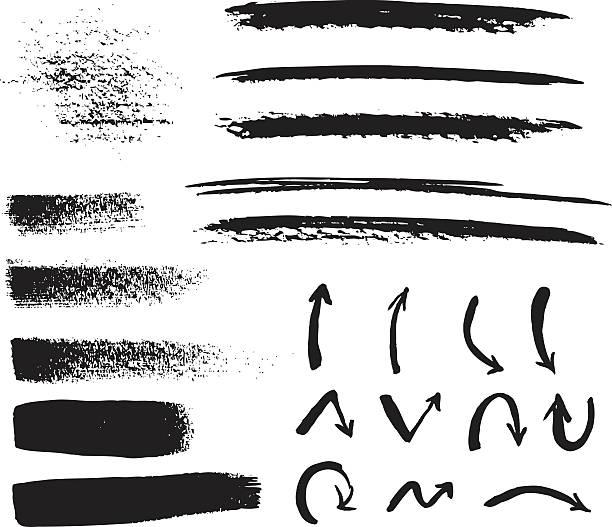 ブラックのブラッシュストローク - ブラシ点のイラスト素材/クリップアート素材/マンガ素材/アイコン素材