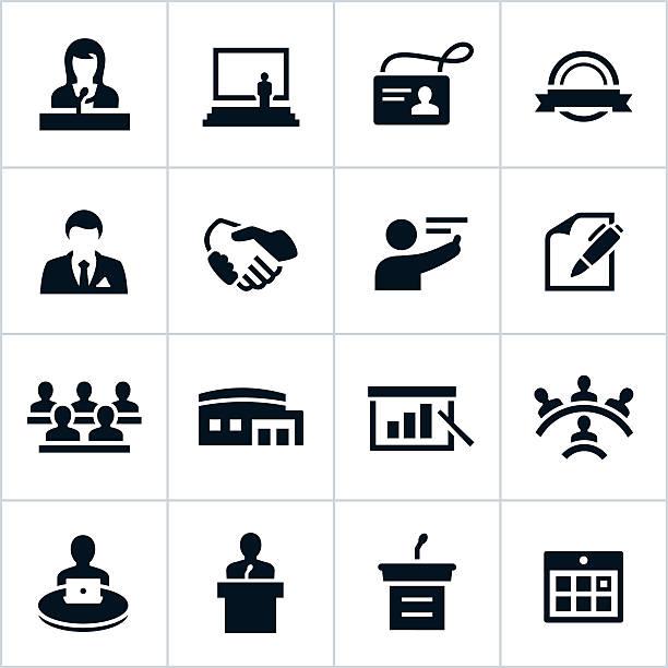 ブラックのビジネスコンベンションのアイコン - トレーニングのカレンダー点のイラスト素材/クリップアート素材/マンガ素材/アイコン素材