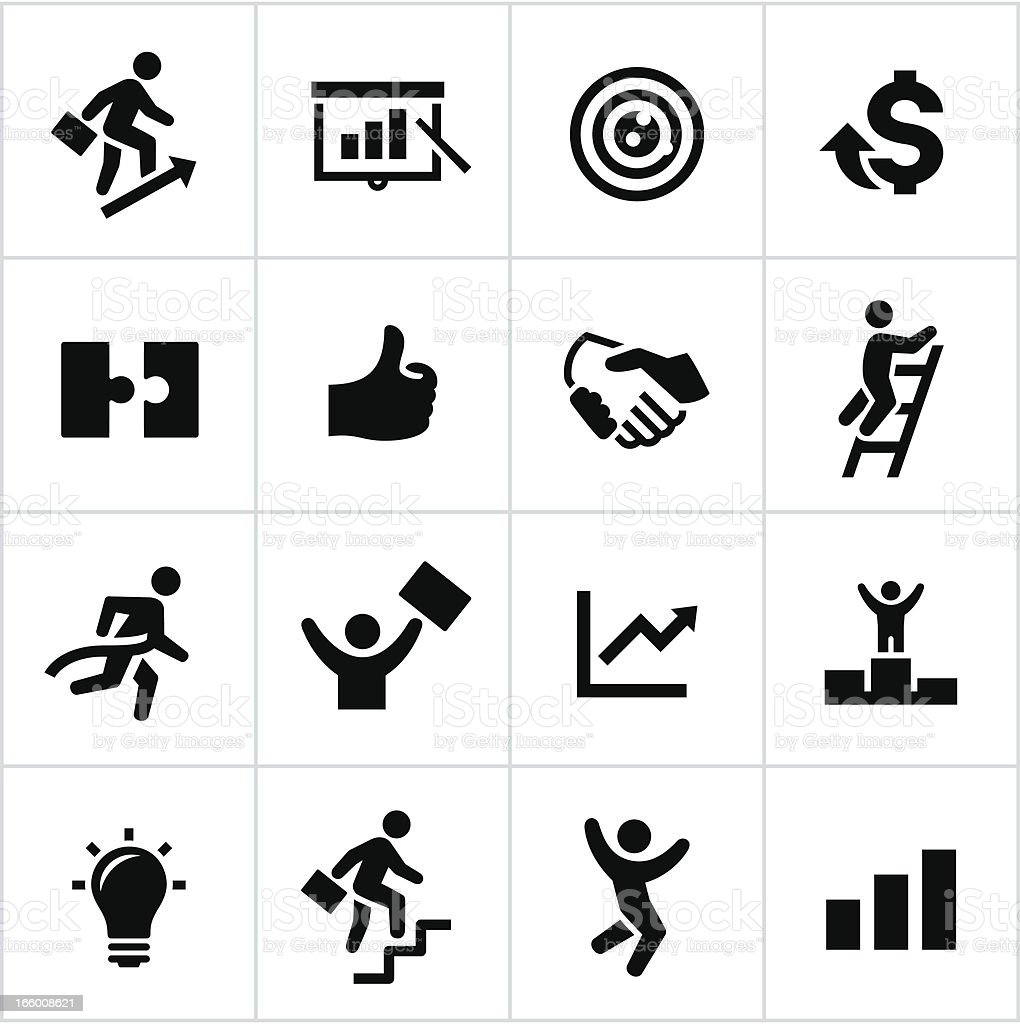 Black Business Success Icons royalty-free stock vector art