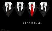 Black Business Suit with a Tie Difference Concept