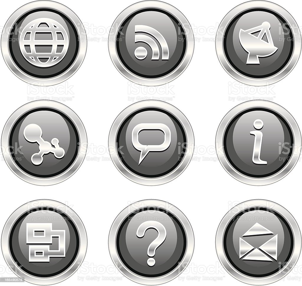 Black buttons. royalty-free stock vector art