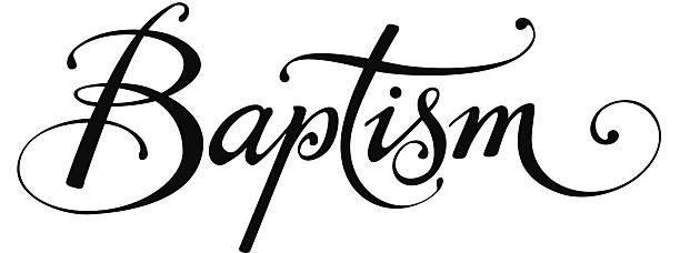 Batismo - ilustração de arte vetorial