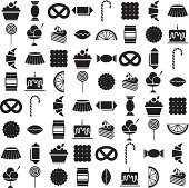black candy icons set