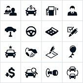 Black Car Dealership Icons