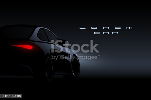 Black car silhouette in vector