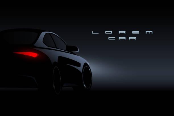 黒い車のシルエット - 車点のイラスト素材/クリップアート素材/マンガ素材/アイコン素材