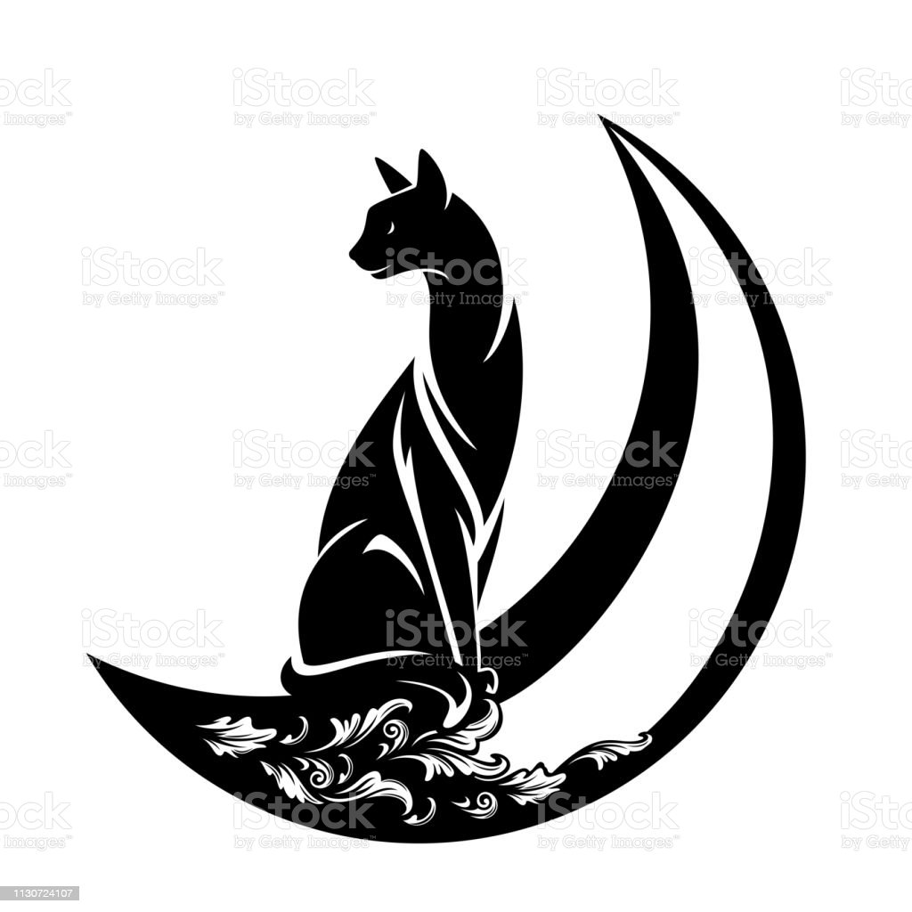 black cat and crescent moon vector design stock illustration download image now istock black cat and crescent moon vector design stock illustration download image now istock