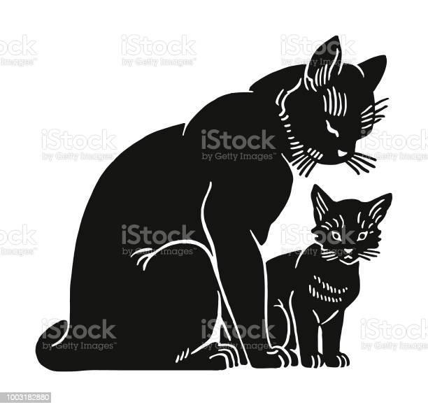 Black cat and kitten vector id1003182880?b=1&k=6&m=1003182880&s=612x612&h= jrd00jyy5wvb3hatp4wrp5bvujxtycwsffbdjqrhse=