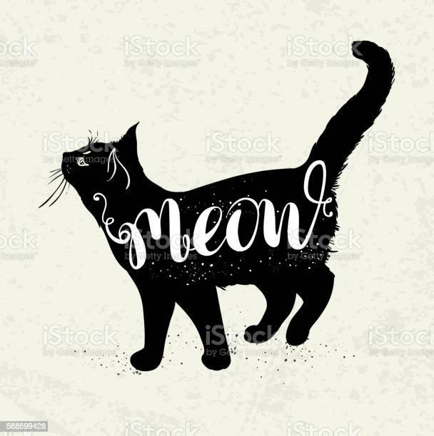 Black cat and lettering vector id588599428?b=1&k=6&m=588599428&s=612x612&h=5huscamdpmcr4zseugqro8sgll0v ltpr09msjevwxa=