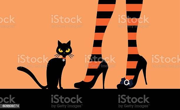 Black cat and witchs legs vector id609909274?b=1&k=6&m=609909274&s=612x612&h=yl9cnrcyrv5tzvudwqq1lx8fatr59obalt8yc0zwcz4=
