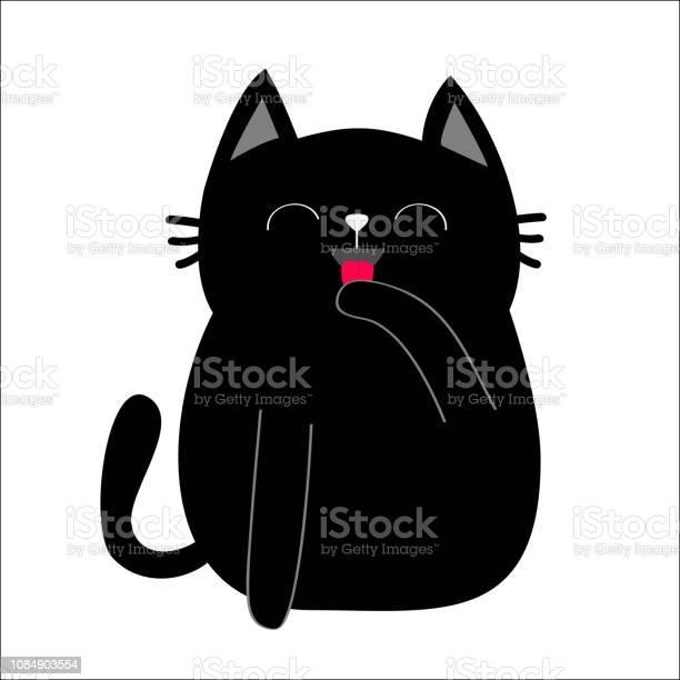 Black cat cat licking paw hand face head tongue moustaches pawprint vector id1084903554?b=1&k=6&m=1084903554&s=612x612&h=ketkweyipvvxuxu1itds0s9bo383j0u8n9yjim30yvc=