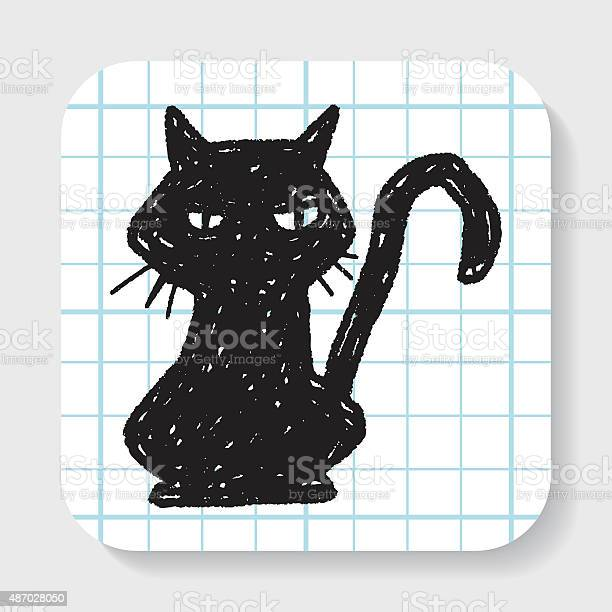 Black cat doodle vector id487028050?b=1&k=6&m=487028050&s=612x612&h=u0qs7c2qu uo2tmcloxgnxqbuqg4 kmxzld2oi fcfa=