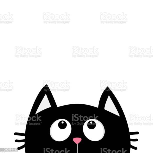 Black cat face head silhouette looking up cute cartoon character vector id1092594482?b=1&k=6&m=1092594482&s=612x612&h=183jeynync  ziqqgozejc1ocmb2w49egaygxlxzlkm=
