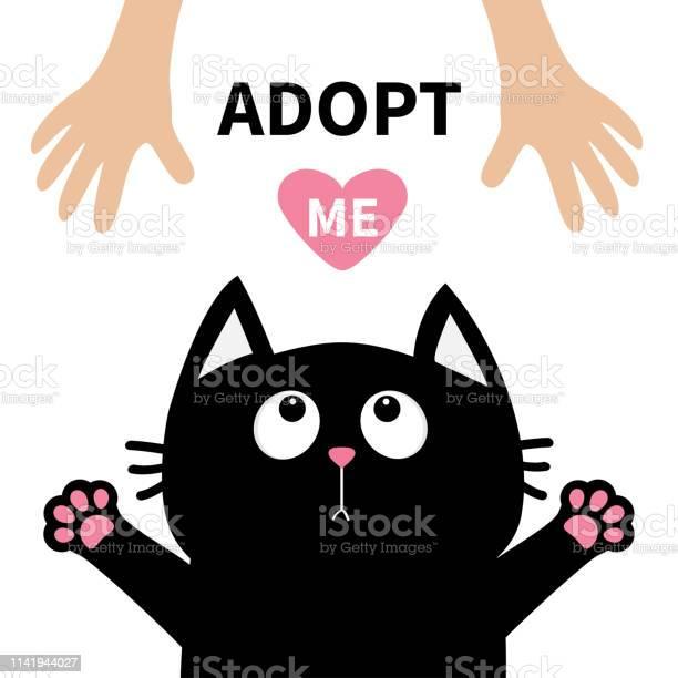 Black cat face looking up to human hand paw print hug cute cartoon vector id1141944027?b=1&k=6&m=1141944027&s=612x612&h=i5hm4i7pov7kwddrybib mzvuzxwo70e2qzrva9fpr4=