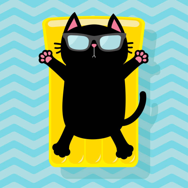 Best Cat Relaxing Illustrations, Royalty-Free Vector ...