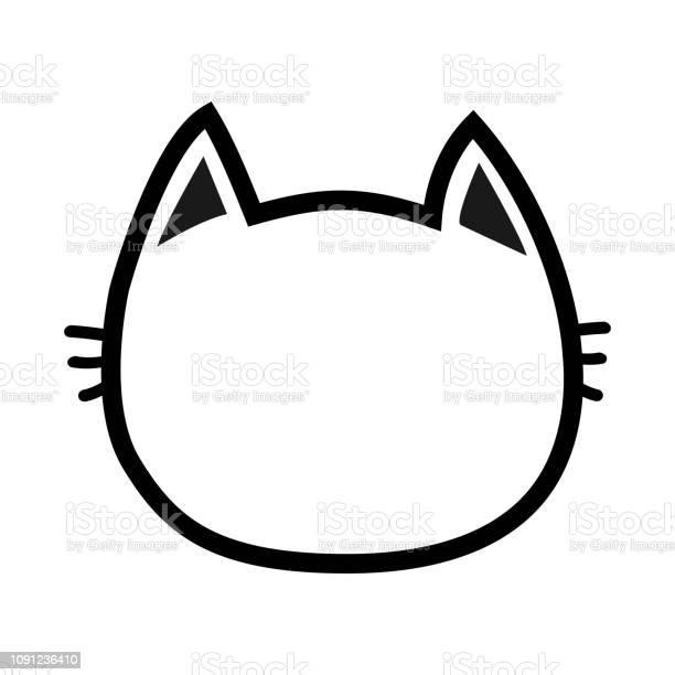 Black cat head face contour silhouette icon line pictogram cute funny vector id1091236410?b=1&k=6&m=1091236410&s=612x612&h=kmhaxwubecm6dzn7otv6p2k5lzoxhlggd12mtmvbz3i=