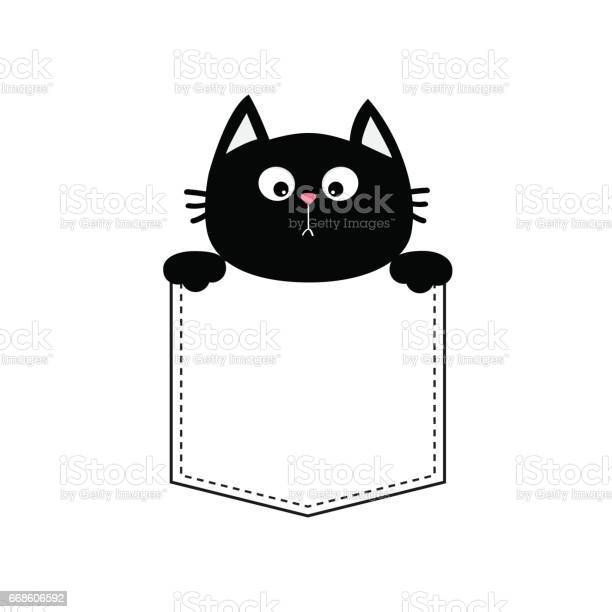 Black cat head in the pocket holding hands tshirt design cute cartoon vector id668606592?b=1&k=6&m=668606592&s=612x612&h=ugf4ua91eztnvaqtui7beudkb6yiyhybn1mghf5fg4u=