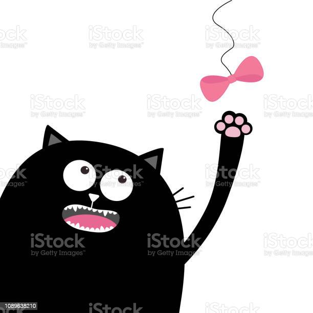 Black cat head looking at pink bow hanging on thread playing kitten vector id1089638210?b=1&k=6&m=1089638210&s=612x612&h=umbqtsxvroqr8abvuecqyjjhnsubaheczp 19kimwp0=