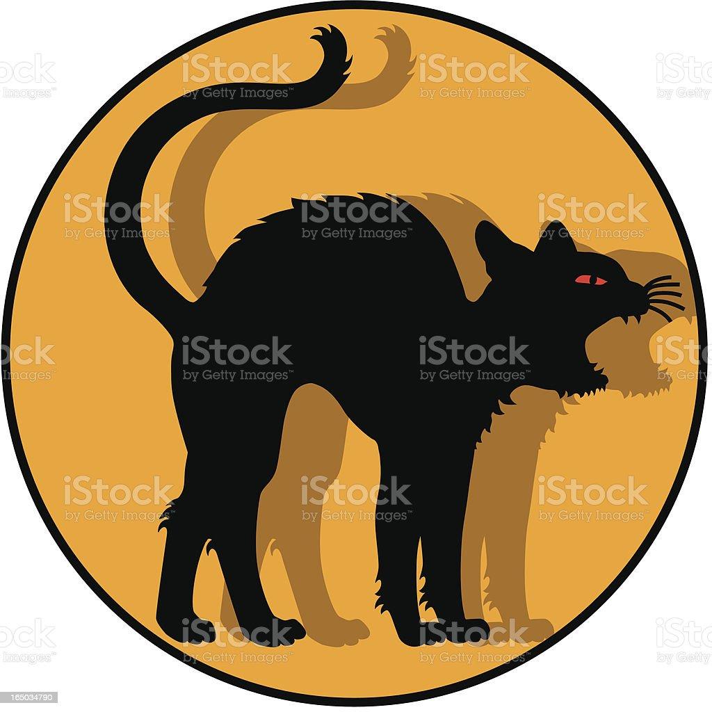 black cat icon vector art illustration