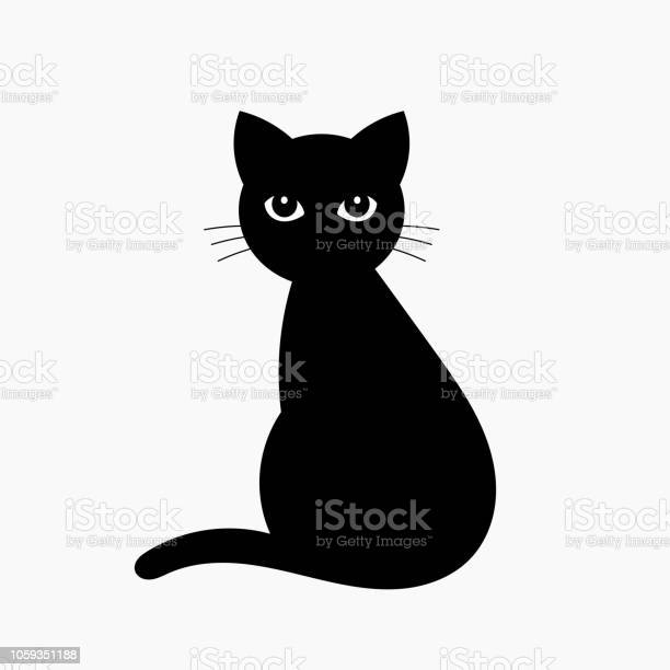 Black cat isolated on white vector id1059351188?b=1&k=6&m=1059351188&s=612x612&h=h9yv7 kmxoeml7dc1dvfqytep2fj5gxz r7igvwwqby=