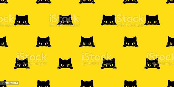 Black cat kitten vector illustration seamless pattern background vector id878189044?b=1&k=6&m=878189044&s=612x612&h=jbdrhyysjuxelbggnosbuwf0hnhichn0gd0qgp3qwbu=