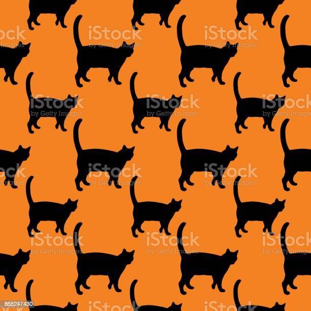 Black cat on orange background seamless pattern vector id855247430?b=1&k=6&m=855247430&s=612x612&h=00zgosbtb4ft2ydobwnearafc7qhkgq8ahrkgt6vq 0=