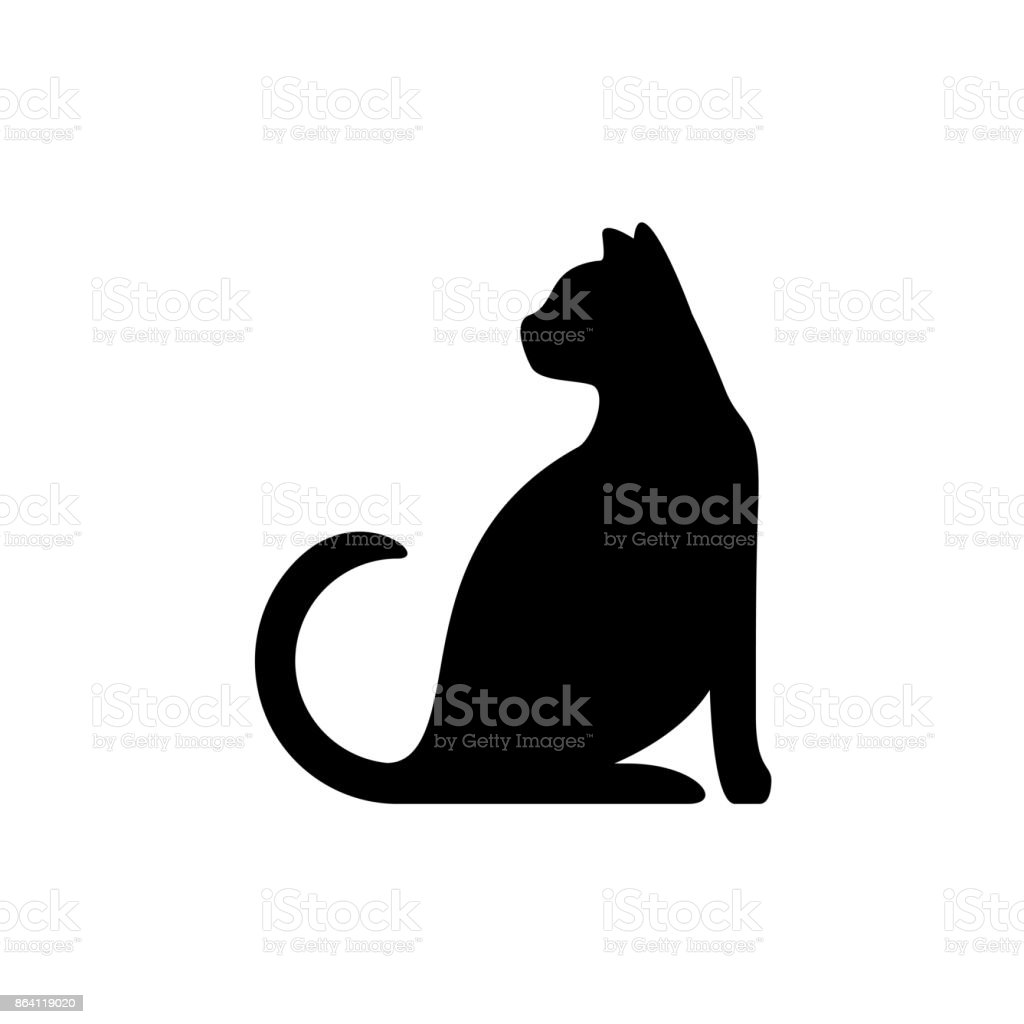 Black cat silhouette royalty-free black cat silhouette stock vector art & more images of animal