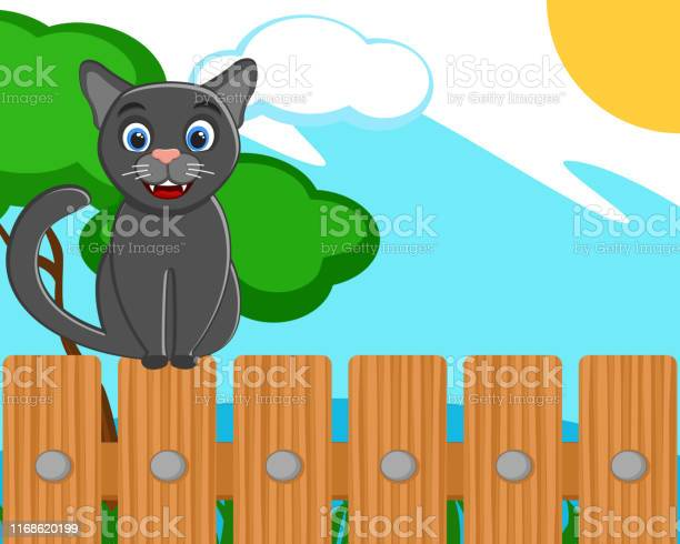 Black cat sitting on a wooden fence vector id1168620199?b=1&k=6&m=1168620199&s=612x612&h=hgosg97es5zug0f0jahn476hrv4vtwqxoex uzs93ti=