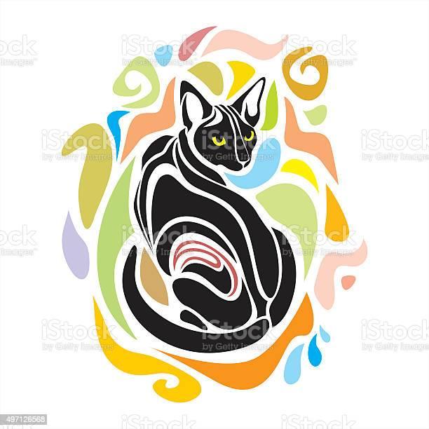 Black cat vector decorative graphic design vector id497126568?b=1&k=6&m=497126568&s=612x612&h=zcmnajrtkgdfsjqi7c7wxzmtwpascytpqb 8ubh dda=