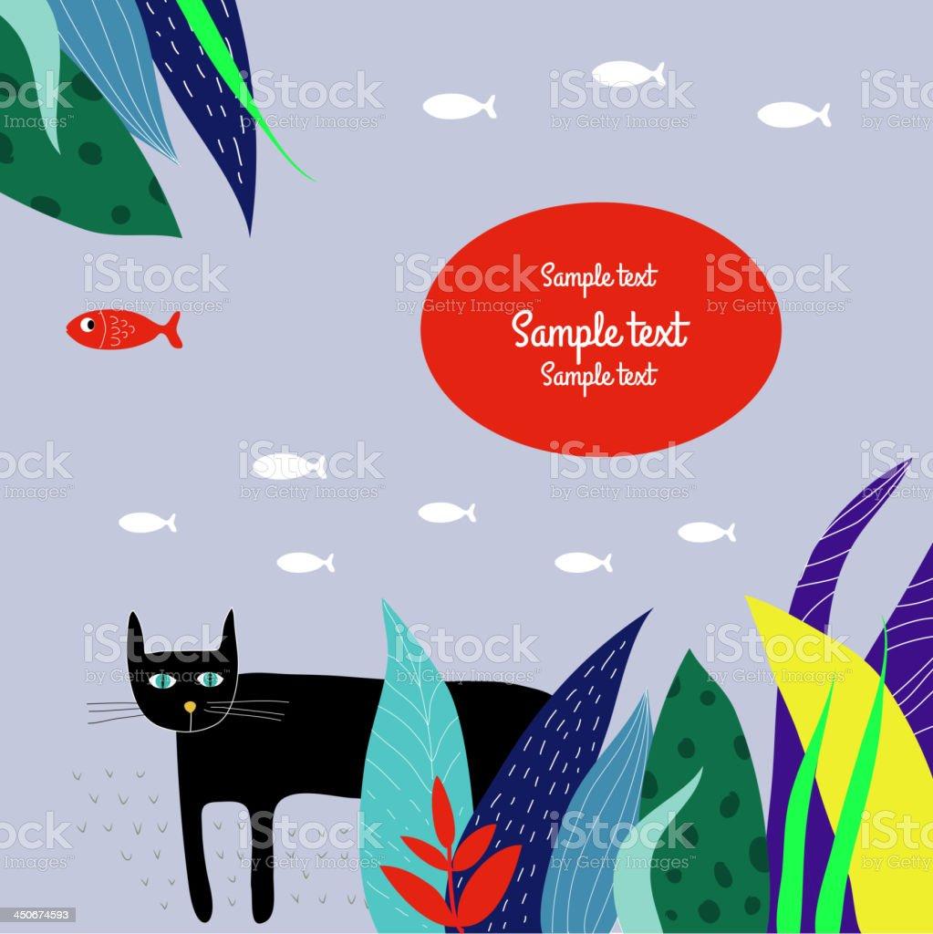 Black cat. royalty-free stock vector art