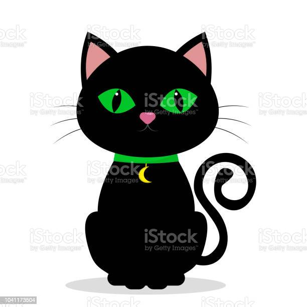 Black cat with green eyes on the neck of a medolene in the shape of vector id1041173504?b=1&k=6&m=1041173504&s=612x612&h=a7 wazyrwgrmmar43xdl7k  yrfeh7k0tj uxfk fdg=