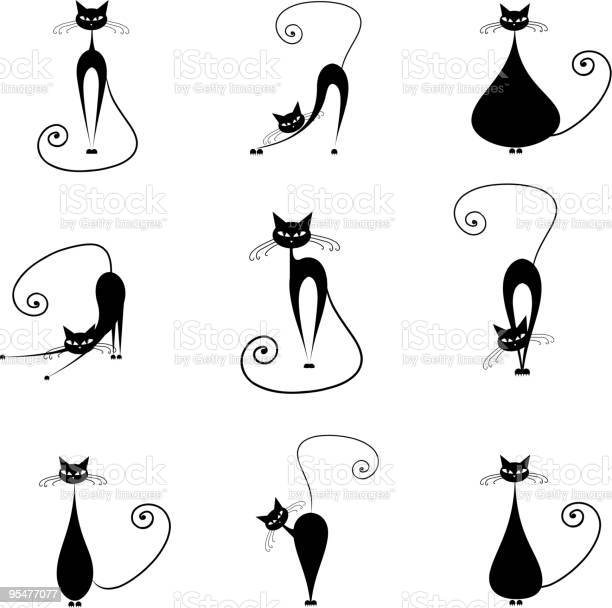 Black cats collection for your design vector id95477077?b=1&k=6&m=95477077&s=612x612&h=m3pjpjco9h0txtbrq4w8wav45cg7lzfo5k9zia1o3ua=