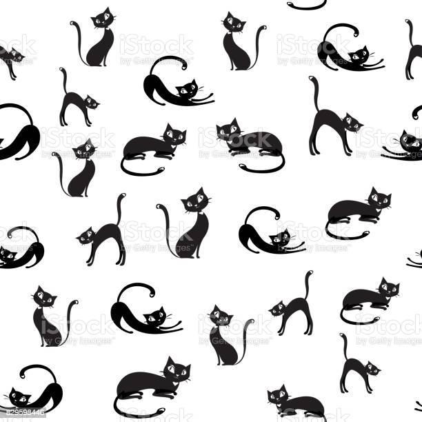 Black cats seamless patternon white background vector id829598446?b=1&k=6&m=829598446&s=612x612&h=lz a64wpchttervghi32xs04slhuqcwwv 7v1nmdoki=