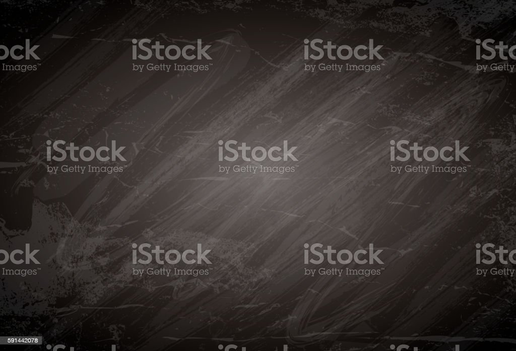 Black chalkboard background grunge texture. vector art illustration