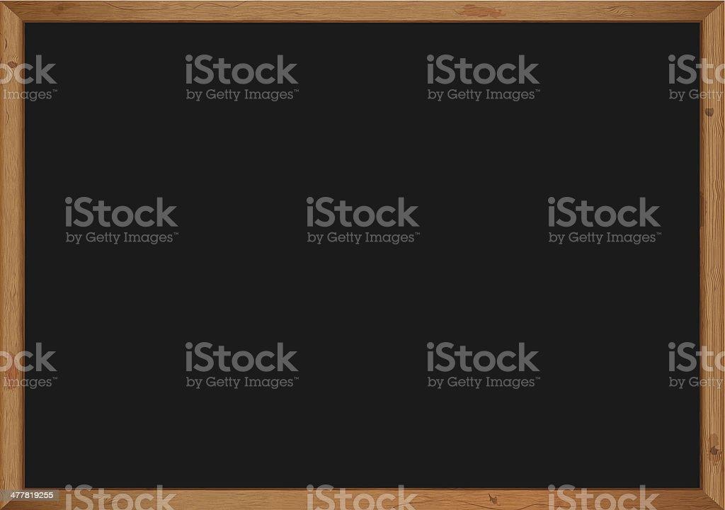 Tableau noir avec cadre en bois - Illustration vectorielle
