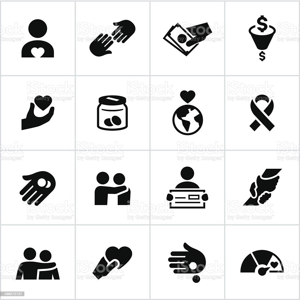Black Charity Icons royalty-free black charity icons stock vector art & more images of a helping hand