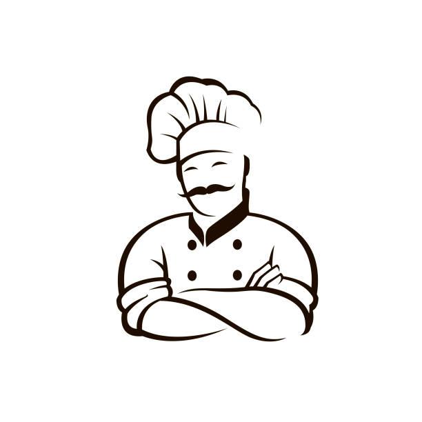 illustrations, cliparts, dessins animés et icônes de icône de chef noir - boulanger