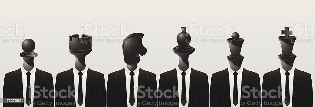 BlacK Chess Team royalty-free stock vector art