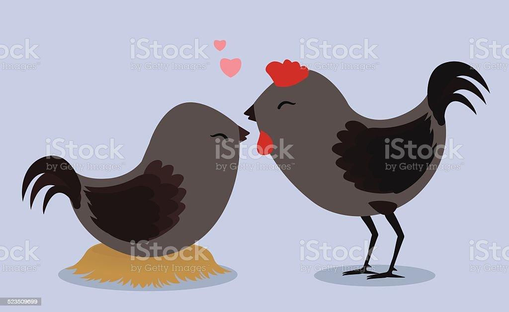Amour noir coq