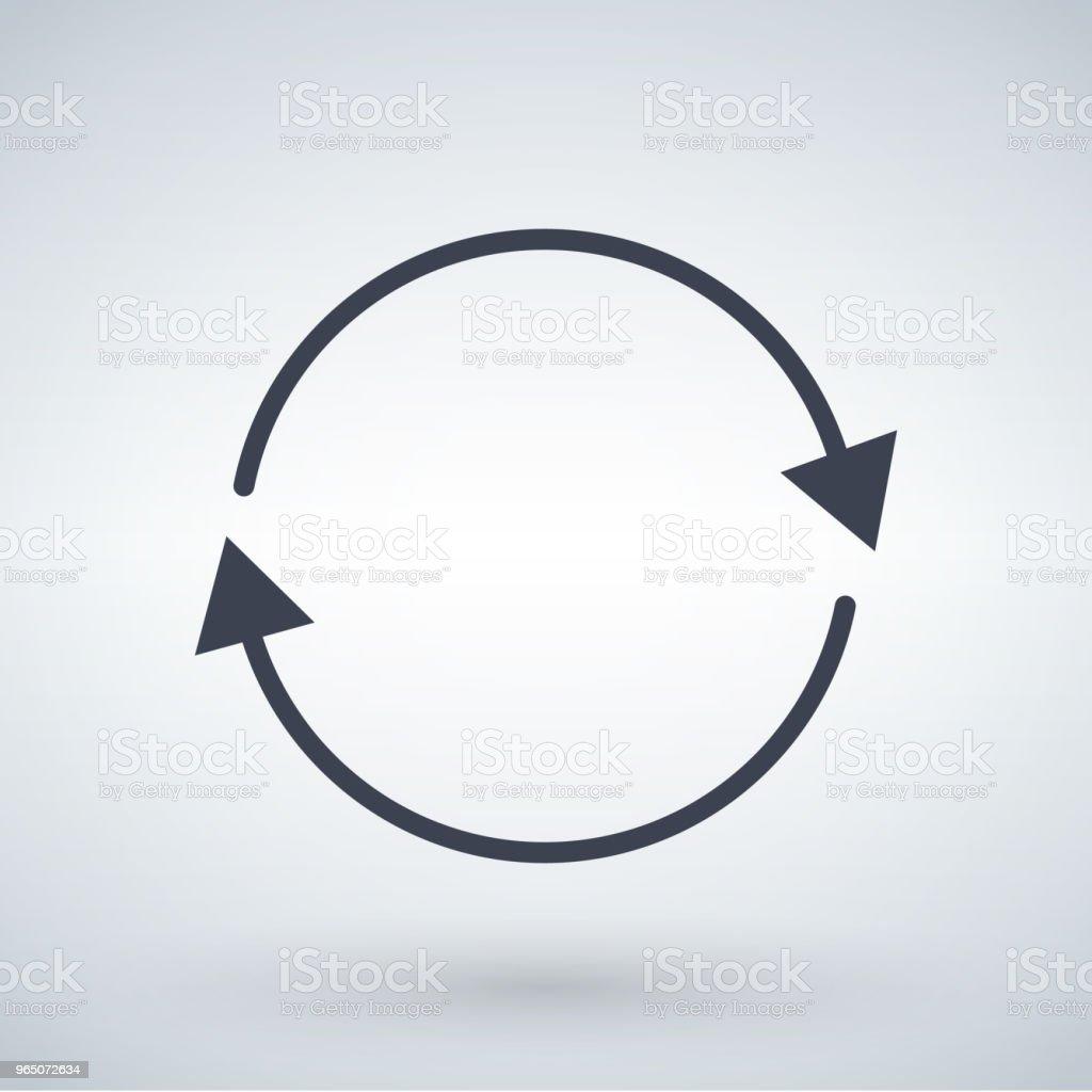 black circle arrows, refresh or update arrow concept. vector illustration isolated on white background. black circle arrows refresh or update arrow concept vector illustration isolated on white background - stockowe grafiki wektorowe i więcej obrazów abstrakcja royalty-free