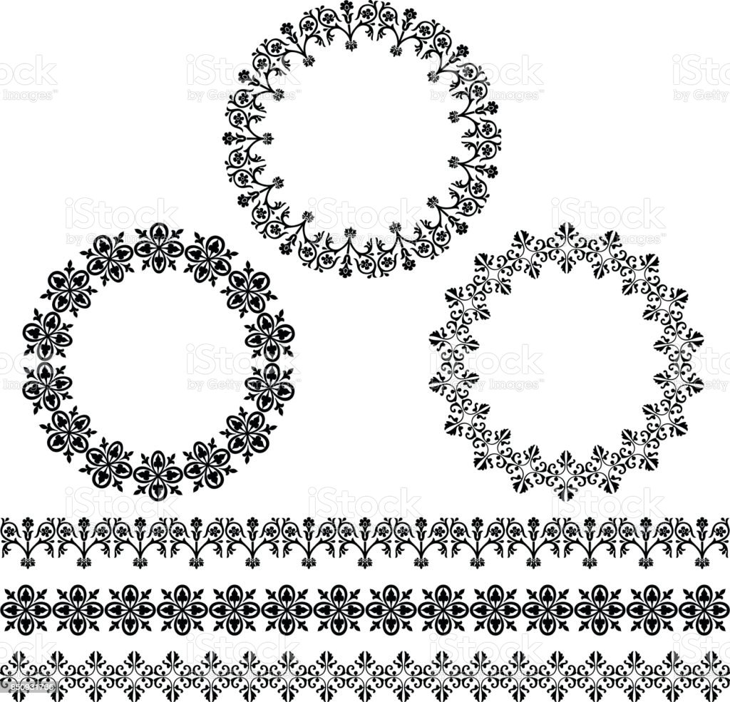 Black Circle Frames And Border Patterns Stock Vector Art & More ...